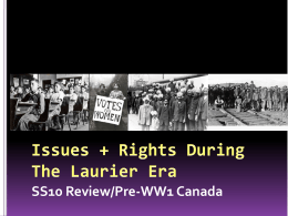 SS10 Review/Pre-WWI Canada File