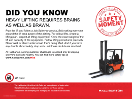 Safety Moment #22 - Heavy Lifting