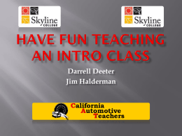Teaching an Intro Class