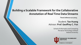 Building a Scalable Framework for the Collaborative Annotation of