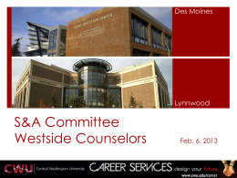 Westside Counselors - Central Washington University