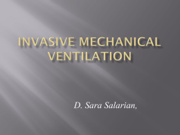Why ventilate?