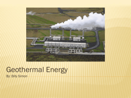 Geothermal Energy - energy-and-environment