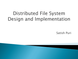 Distribute File System