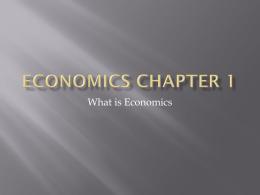 Economics Chapter 1