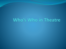Who*s Who in Theatre