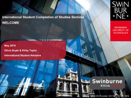 PPT - Swinburne University of Technology