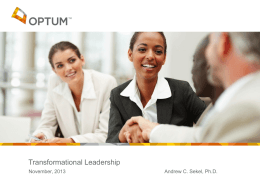 Transformational Leadership: A Dialogue