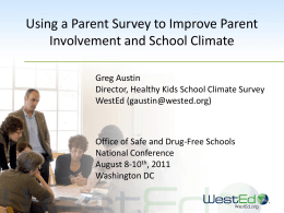 Using a Parent Survey to Improve Parent Involvement and