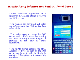 Ppt On POS Terminal Presented On 18/04/2016