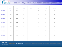 COSMIC-1 Status