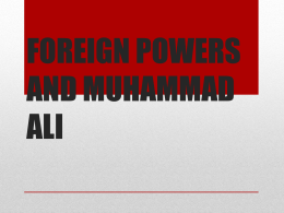 Muhammad Ali Foreign Powers