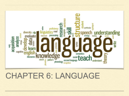 Chapter 6: Language