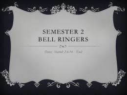 Semester 2 Bellringers