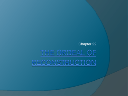 The Ordeal of Reconstruction - American-Leadership