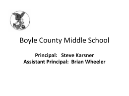 7th and 8th grade Orientation - Boyle County Schools District