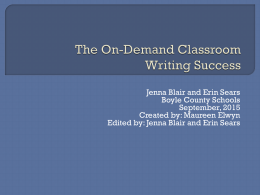 Flying High with On-Demand Writing