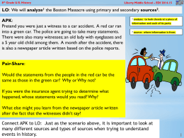 3 Boston Massacre primary source skill