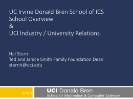 UC Irvine Donald Bren School of ICS School Overview