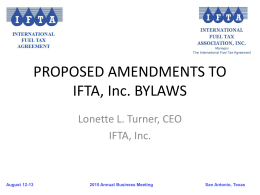 IFTA Bylaws Amendment