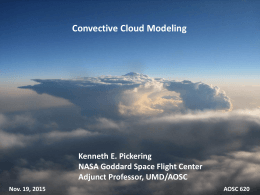 Lecture CP10 Numerical Simulation of Clouds