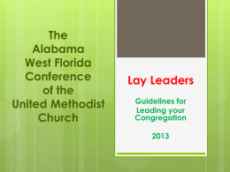 Lay Leaders - Pensacola District
