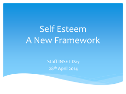 Self Esteem-A New Framework