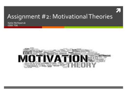 Assignment #2: Motivational Theories