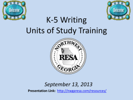 Writing Pathways - Northwest GA RESA