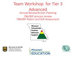 FBA/BIP Rubric - Missouri Schoolwide Positive Behavior Support