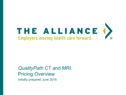 QualityPath CT and MRI Reimbursement Methodology