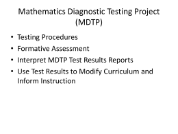MDTP Testing Procedures PowerPoint