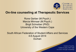 On-line counseling at Therapeutic Services