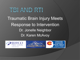 TBI and RTI - Brain injury - Colorado Kids Brain Injury Resource