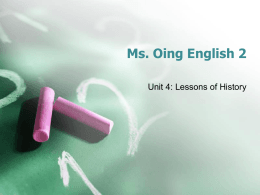 Ms. Oing English 2 - Flipped Out Teaching
