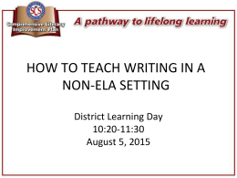 HowtoTeachWriting in a Non