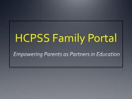 HCPSS Family Portal