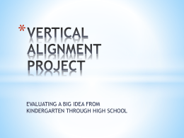 vertical alignment project