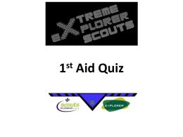 1st Aid Quiz - Lupine Adventure Co