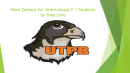 Work Options for International F-1 Students