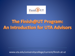 Introduction to Finish@UT