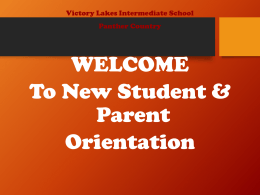 Who`s Who at VLIS - Victory Lakes Intermediate PTA