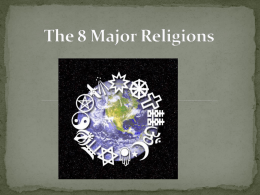 The 8 Major Religions - Spokane Public Schools