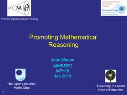 MT19 Reasoning Mathematically