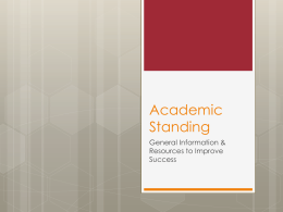 Academic Standing - OSU - The Ohio State University