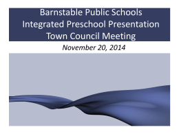 Early Learning Center - Barnstable Public Schools / Home