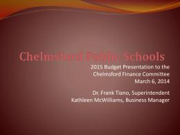 CPS – By REVENUE - Chelmsford Public Schools