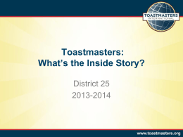 PowerPoint - District 25 Toastmasters