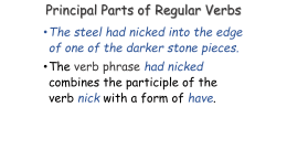 Principal Parts of Regular Verbs
