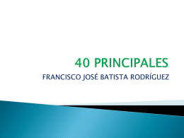 40 principales - WordPress.com